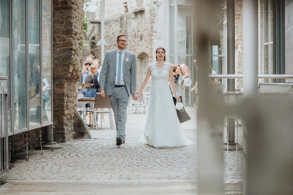 frisch verheiratetes Brautpaar