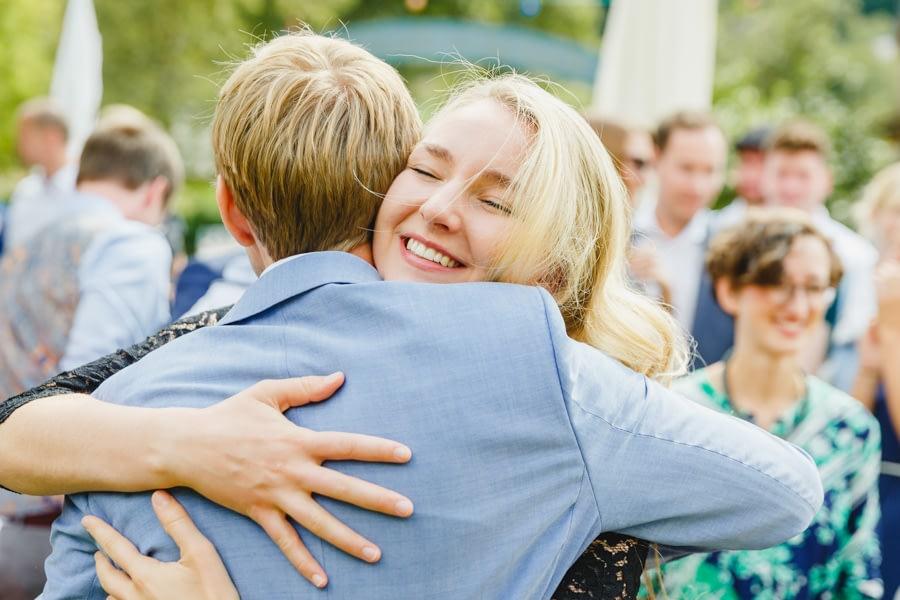 Gratulation auf der Hochzeit