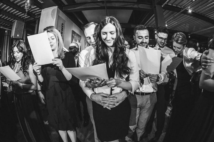 Gesang Hochzeitsgäste