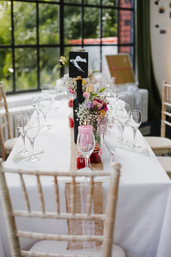 Hochzeits Tischdeko DIY