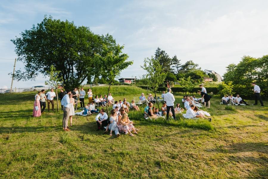 Garten Hochzeitsgäste