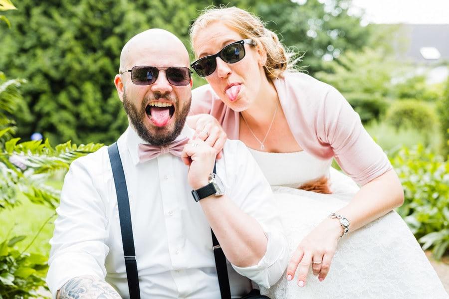 Sonnenbrille Brautpaar