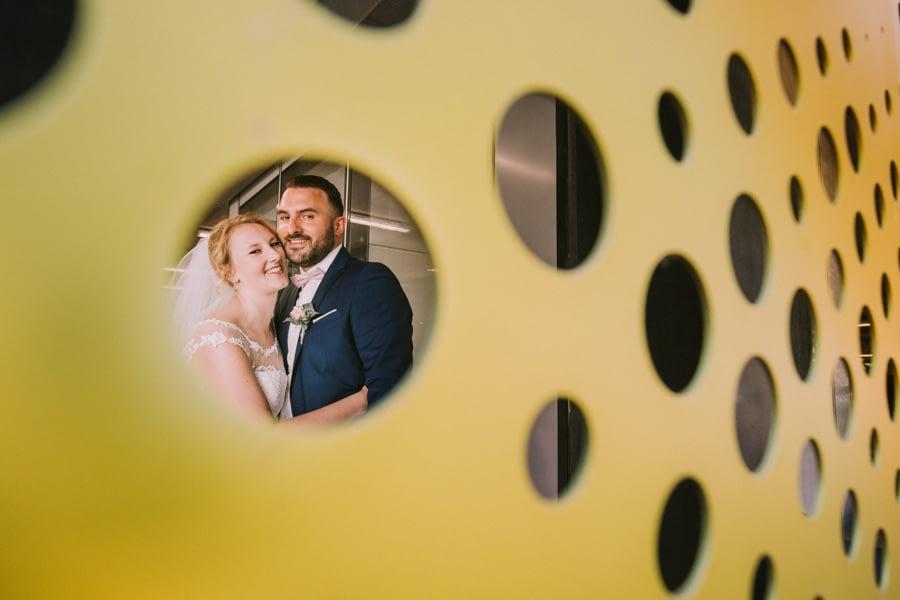 Brautpaar im Fokus