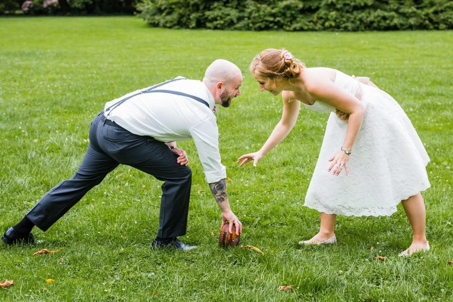 Football Brautpaar