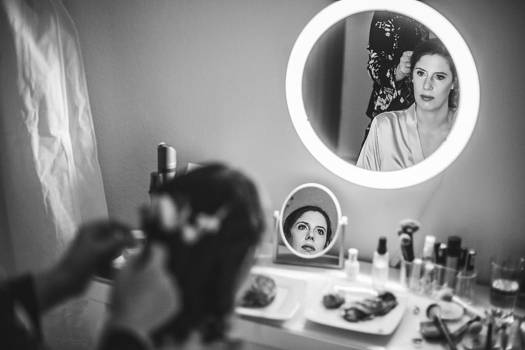 Spiegelung der Braut